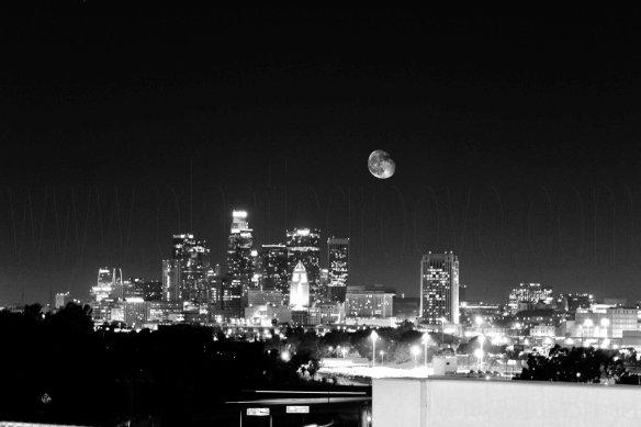 Moon LA BW